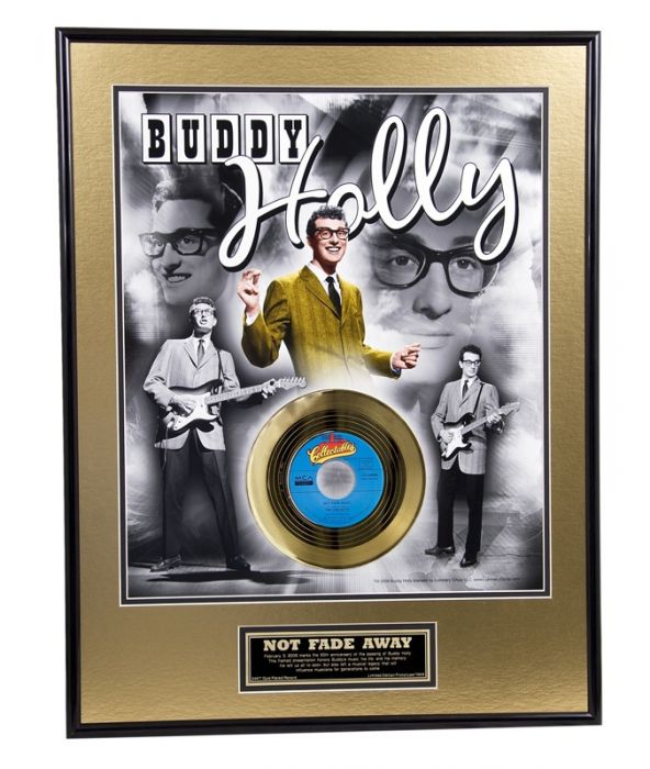 "Gold plated record - Buddy Holly ""Not Fade Away"""