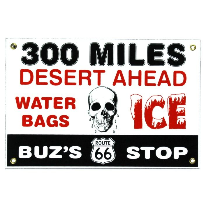 Enamel sign Buz's Stop