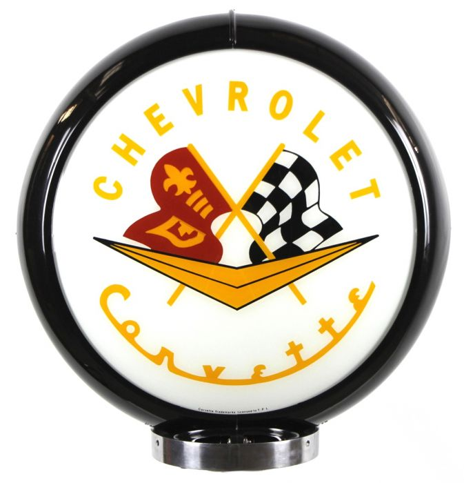 Gaspump globe Chevrolet Corvette