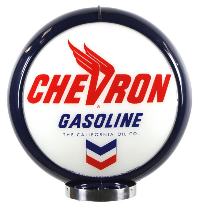 Gaspump globe Chevron Gasoline