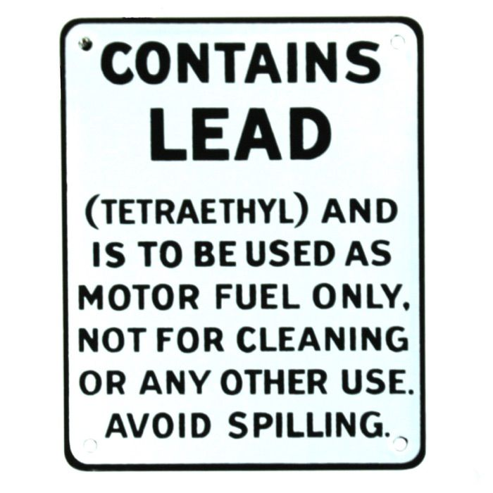 Enamel sign Contains Lead