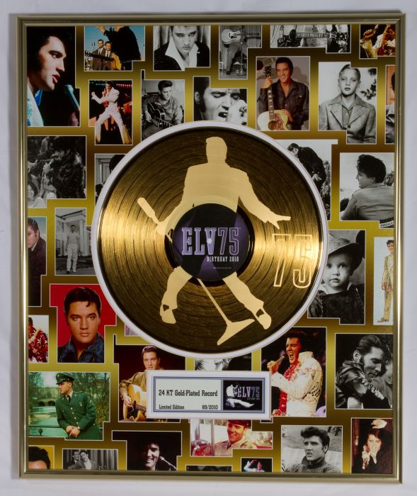 "Gold plated record - Elvis Presley ""75th birthday"""