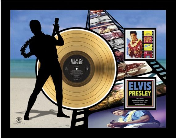 "Gold plated record - Elvis Presley ""Blue Hawaï Etched"""