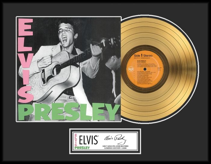 "Gold plated record - Elvis Presley ""Gold LP LE 1000"""