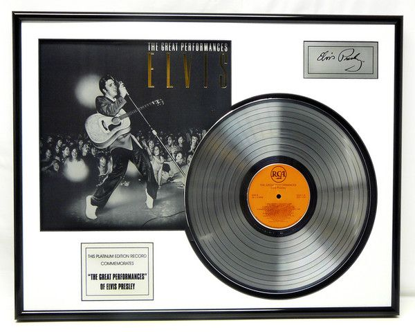 "Gold plated record - Elvis Presley ""Great Perfomances"""