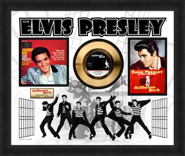 """Gold plated record  - Elvis Presley """"Jailhouse Rock"""""""