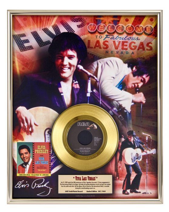"Gold plated record - Elvis Presley ""Viva Las Vegas"""
