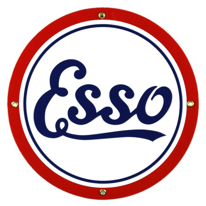 Enamel sign Esso