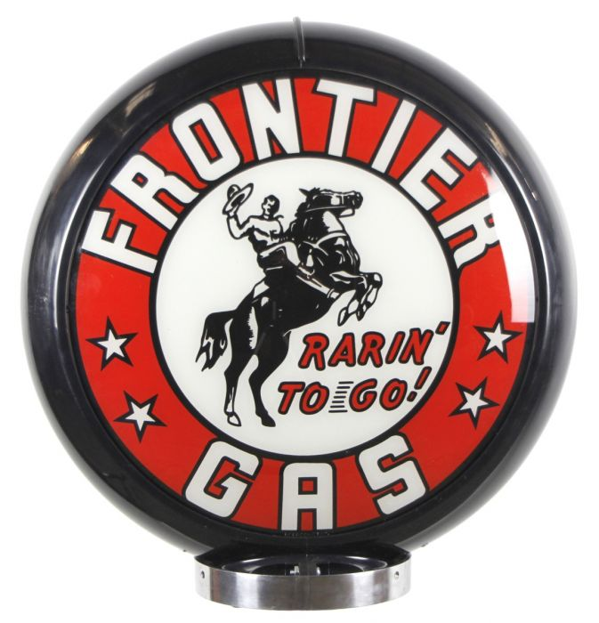 Gaspump globe Frontier Gas
