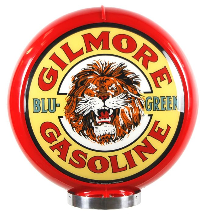 Gaspump globe Gilmore Gasoline