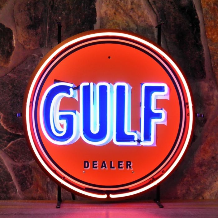 Gulf neon with background