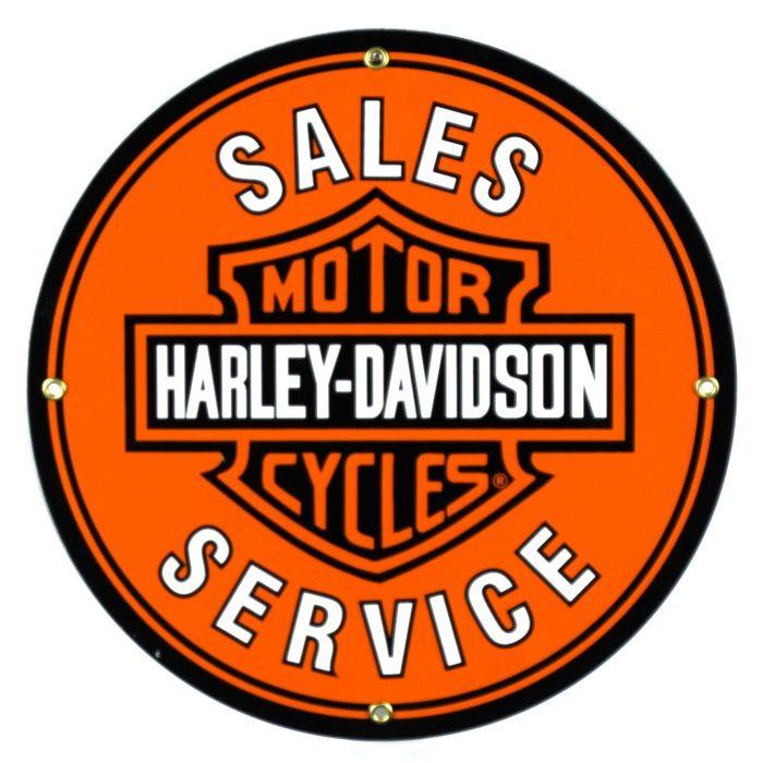 Enamel sign Harley Davidson