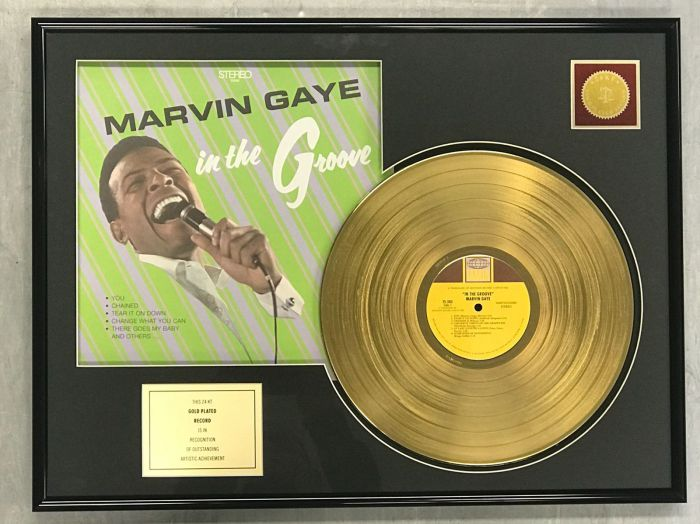 "Gold plated record - MARVIN GAYE  ""IN THE GROOVE"""