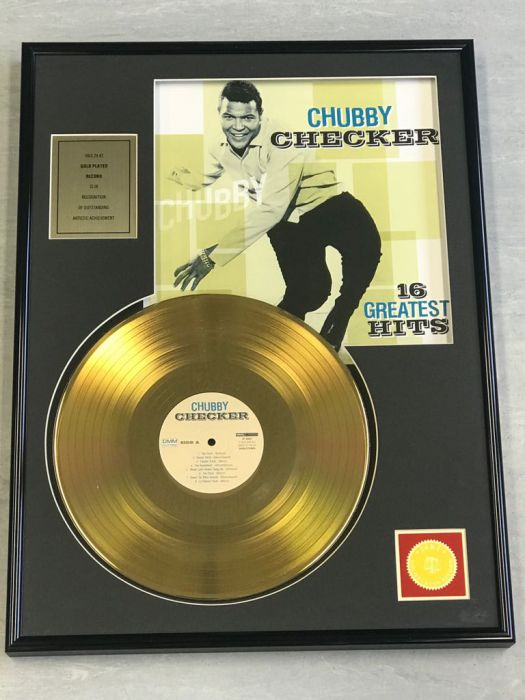 "Gold plated record - CHUBBY CHECKER ""16 GREATEST HITS"""