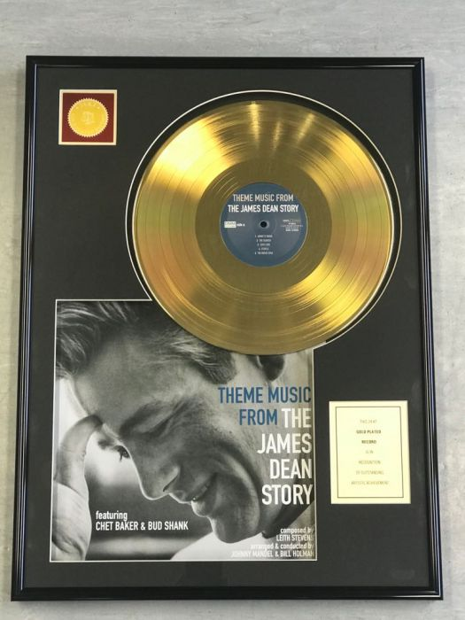 "Gold plated record - JAMES DEAN ""THE JAMES DEAN STORY"""