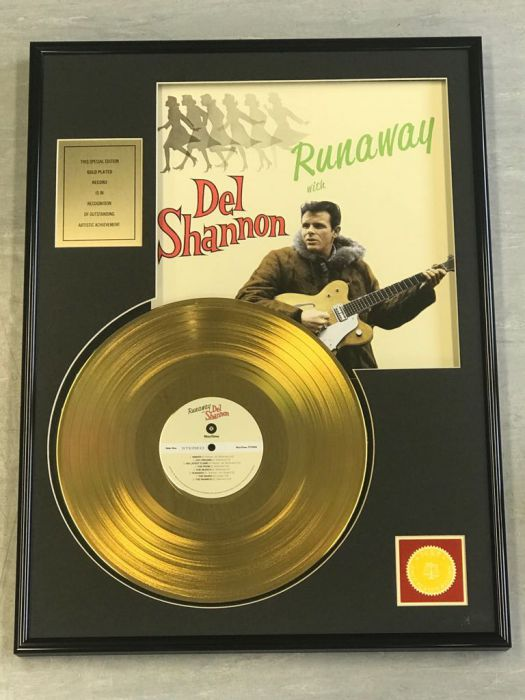 "Gold plated record - DEL SHANNON ""RUNAWAY"""