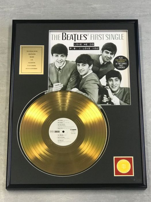"Gold plated record  - THE BEATLES ""FIRST SINGLE"""