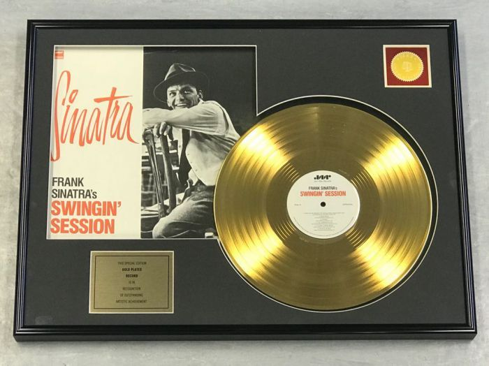 "Gold plated record - FRANK SINATRA ""SWINGIN' SESSION"""