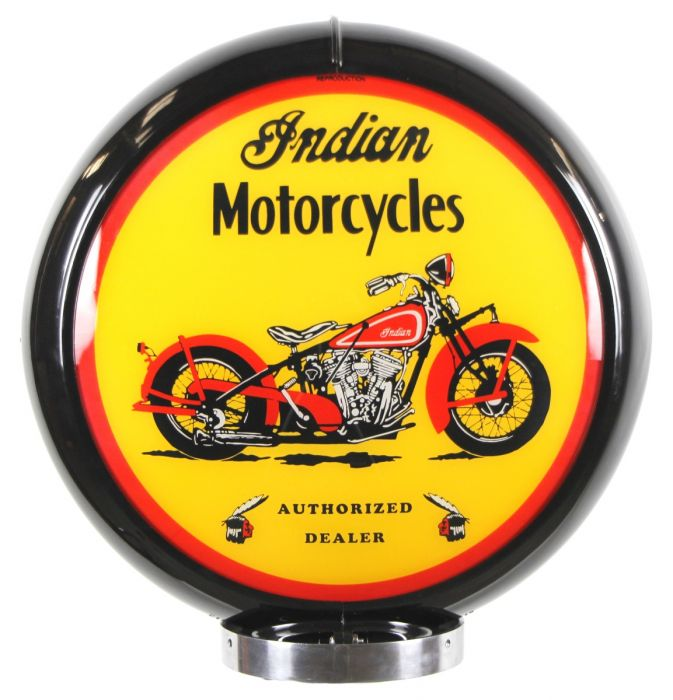 Gaspump globe Indian Motorcycles Black