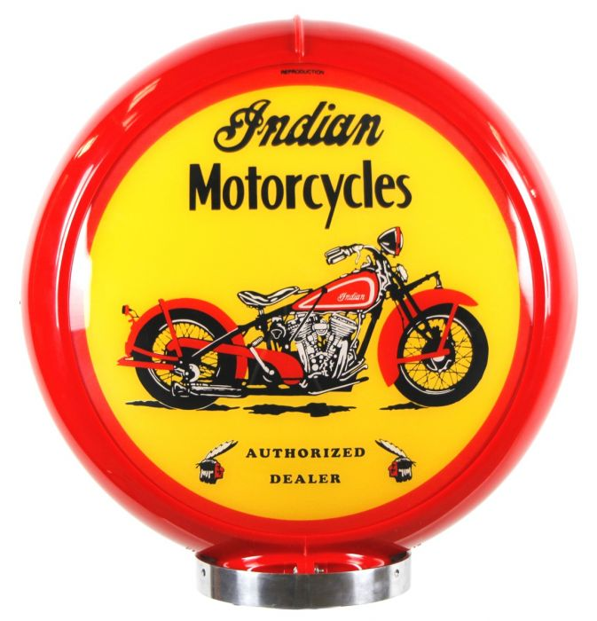 Gaspump globe Indian Motorcycles Red