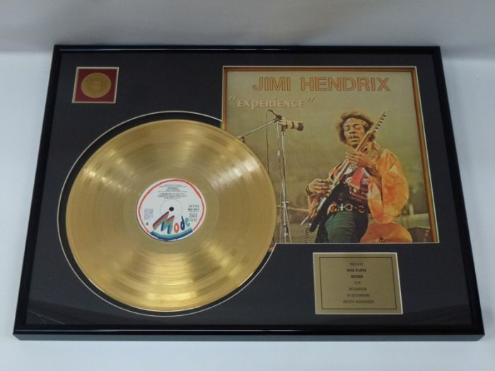 """Gold plated record - Jimi Hendrix """"Experience"""""""