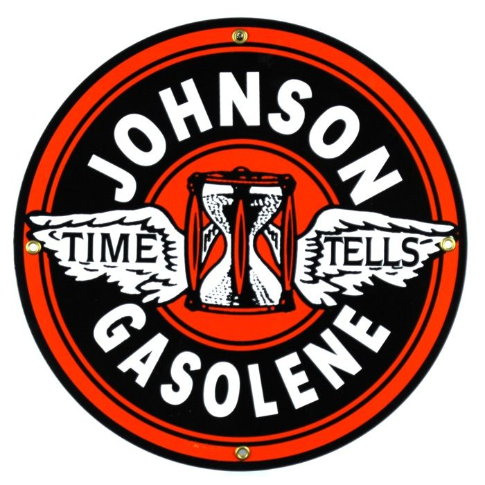 Enamel sign Johnson Gasolene