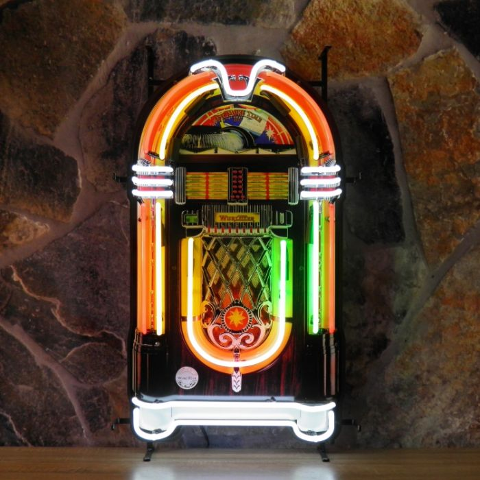 Jukebox neon with background