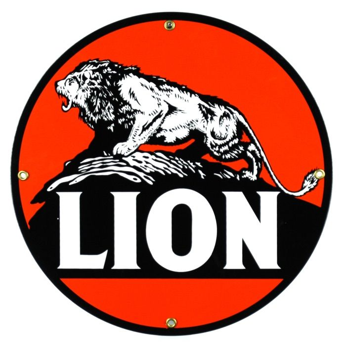 Enamel sign Lion