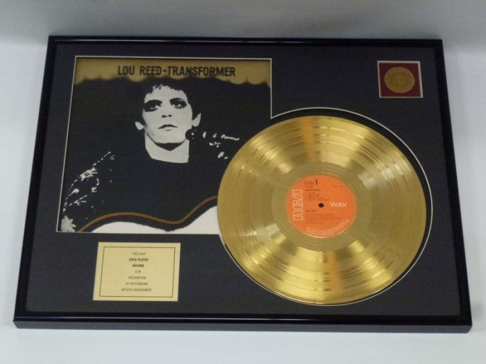"Gold plated record - Lou Reed  ""Transformer"""