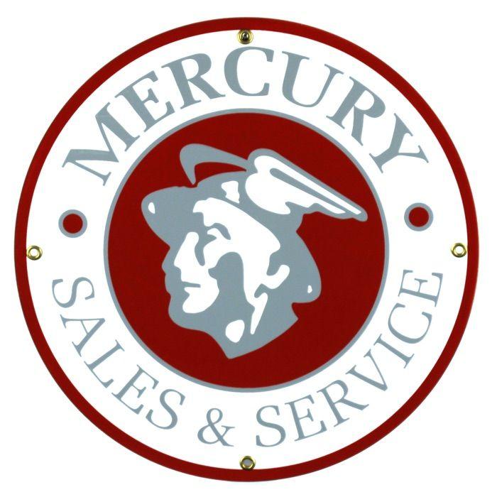 Enamel sign Mercury