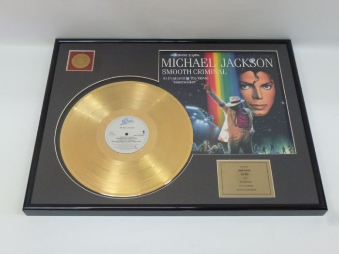 "Gold plated record - Michael Jackson ""Smooth Criminal"""
