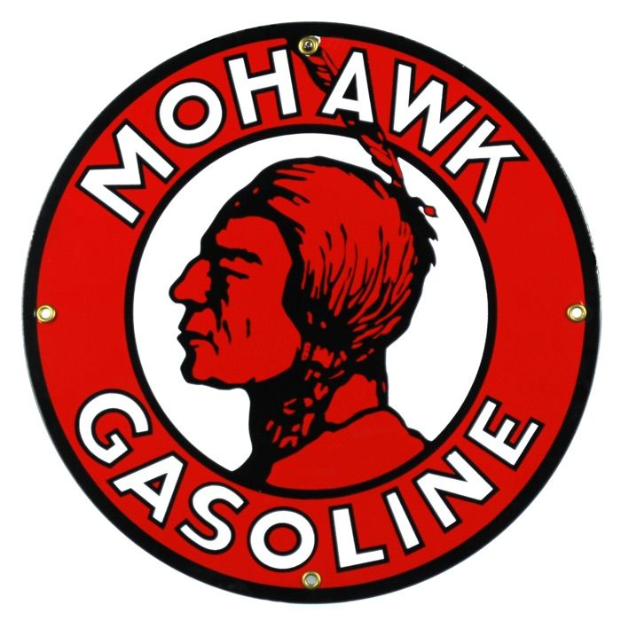 Enamel sign Mohawk Gasoline