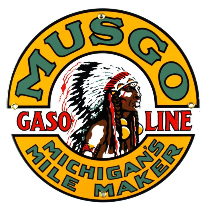 Enamel sign Musgo