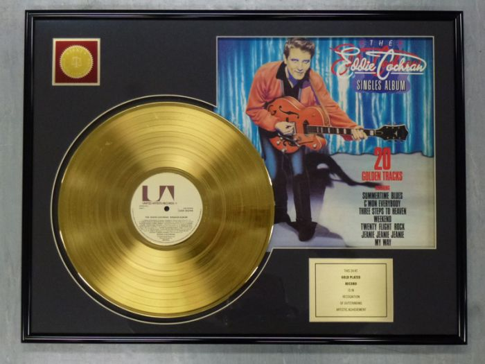 "Gold plated record - EDDIE COCHRAN ""20 GOLDEN TRACKS"""