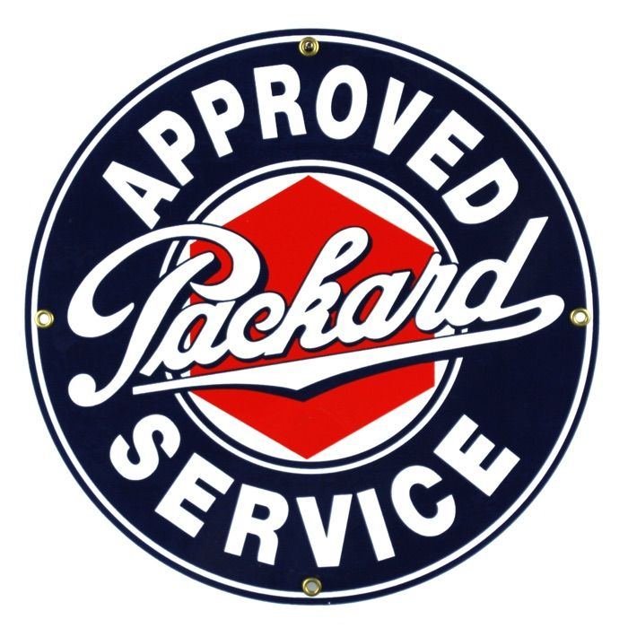 Enamel sign Packard Service