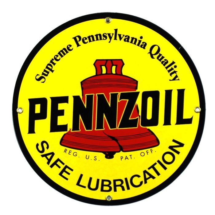 Enamel sign Pennzoil