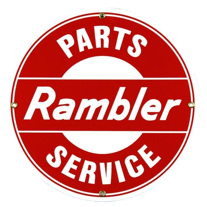 Enamel sign Rambler Parts Service