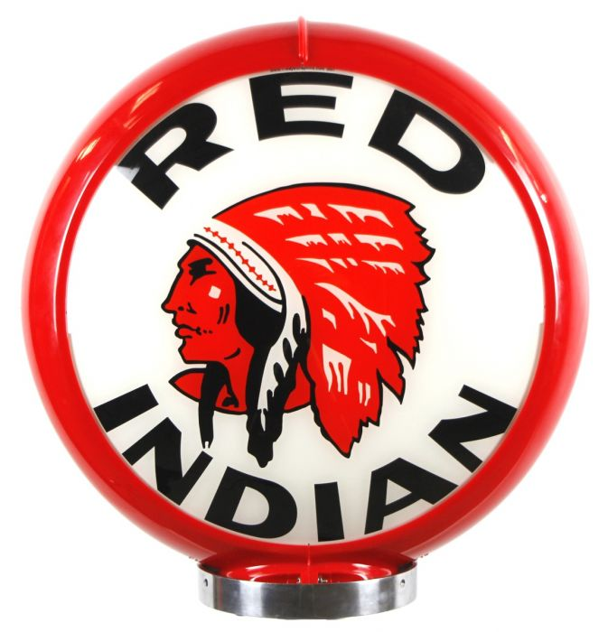 Gaspump globe Red Indian