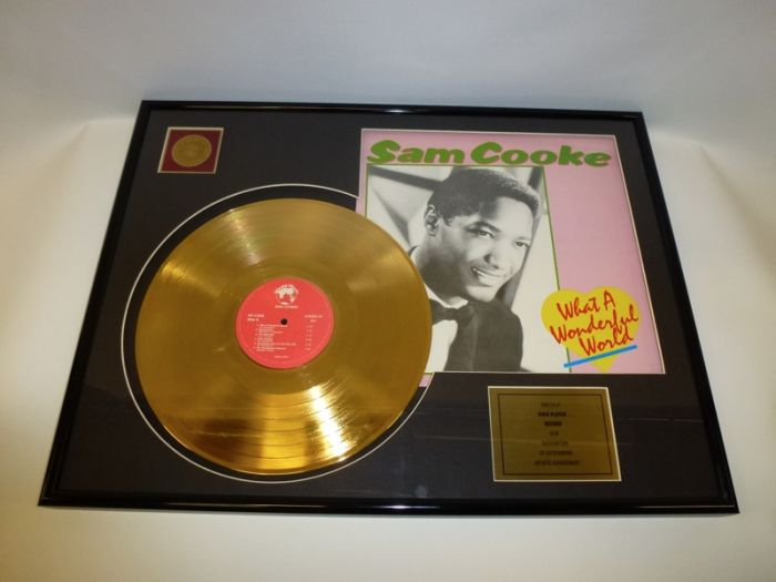 """Gold plated record - Sam Cooke """"What A Wonderful World"""""""