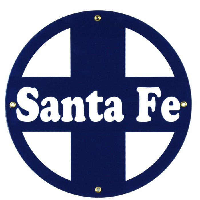 Enamel sign Santa Fe