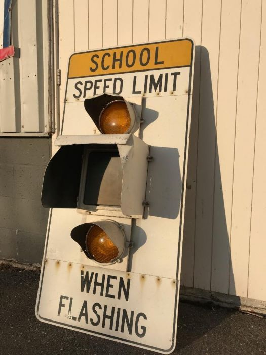 Original School Speed Limit sign