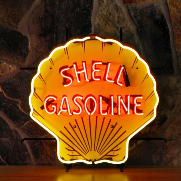 Shell neon with background