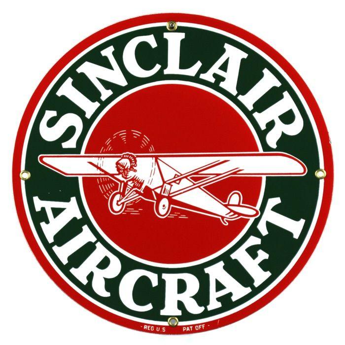 Enamel sign Sinclair Aircraft