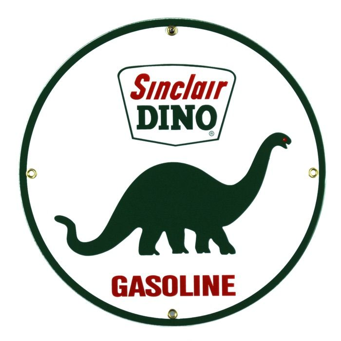 Enamel sign Sinclair Dino
