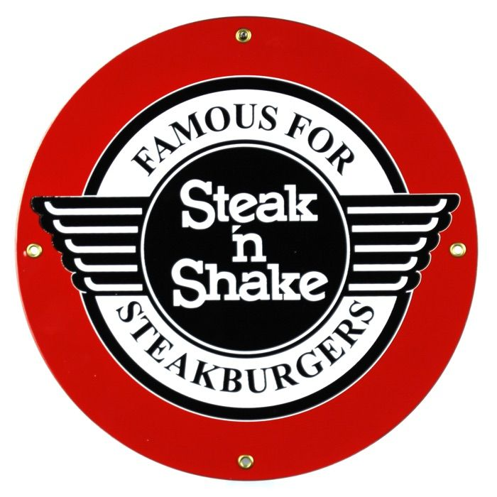Enamel sign Steak 'n Shake