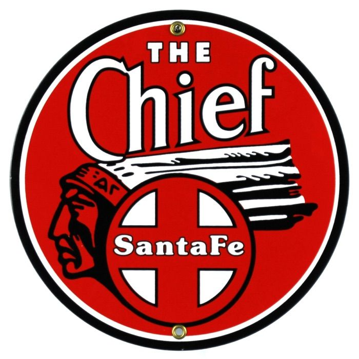 Emaille bord The Chief