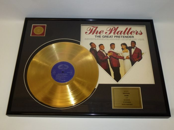 "Gold plated record - The Platters ""The Great Pretender"""