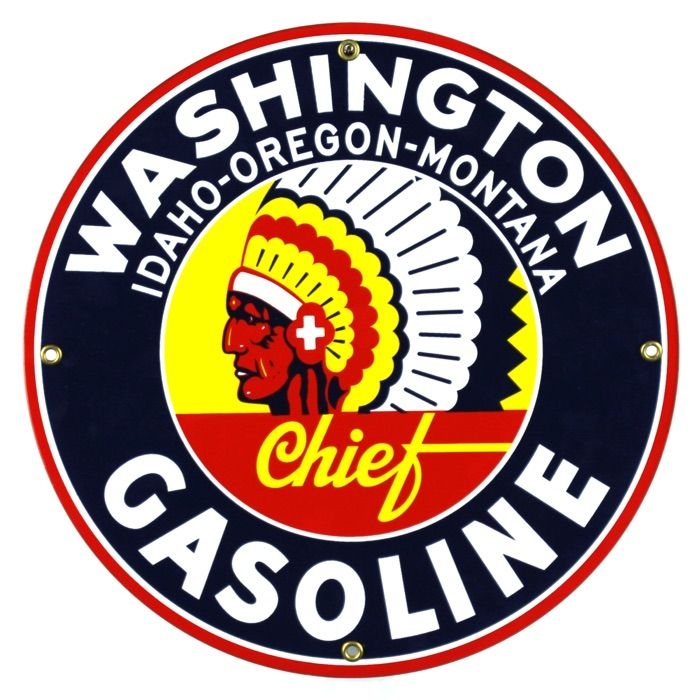 Enamel sign Washington Gasoline